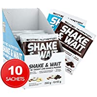 Scitec Nutrition Shake & Wait Weight Loss Shake and Pudding - Box of 10 Sachets, White Chocolate Coconut & Dark Chocolate Coconut