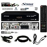 Pack Récepteur Strong SRT 7404 HD + Carte Viaccess TNTSAT + Câble HDMi + Cordon 12V + Déport IR