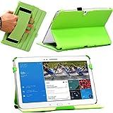 Navitech grünes Leder Hart Case / Cover für das Samsung Galaxy Tab Pro 10.1
