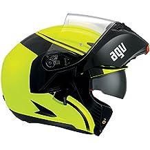 AGV Casco Moto Compact St E2205 Multi PLK, Course Yellow/ Black, L - Agv Sport Moto