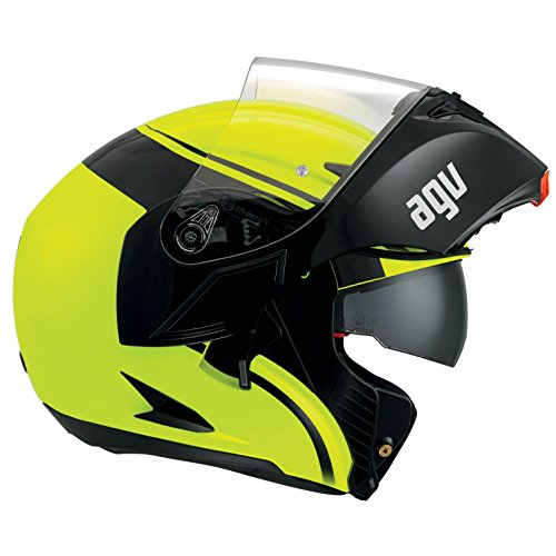 AGV Casco Moto Compact St E2205 Multi PLK, Course Yellow/Black, XL