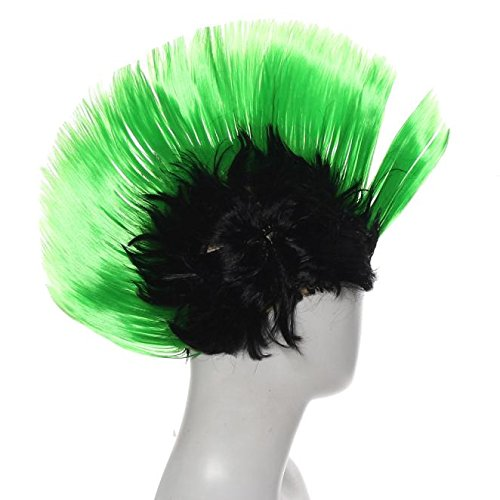 Punk Mohawk Mohican Adults Wig - Choice of six colours