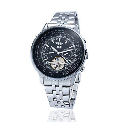 YAKI Il Elegante classica orologio automatico da polso orologio da uomo automatico meccanico 1220-B