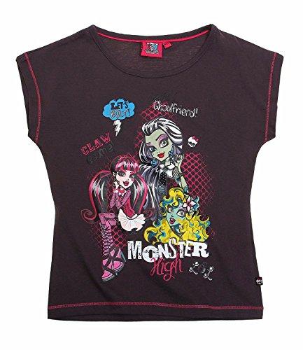 Monster High Mädchen T-Shirt - grau - 140