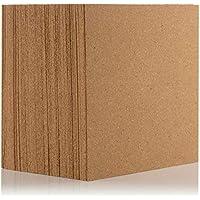 Azulejos de corcho natural de 300 x 300 mm (4 mm de grosor) para suelo/pared/bricolaje (paquete de 9)