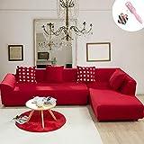 Funda Sofá de 3 plazas Universal Estiramiento, Morbuy Color Sólido Cubierta de Sofá Cubre Sofá Funda Furniture Protector...