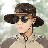 CJC Sombrero de pescador Sol Sombrero Mujer Hombres Masculino Adulto Al aire libre playa Sol Sombreado Viajar Pescar Gorra Camuflaje Color Plegable (Color : T4)