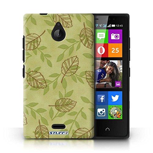 Kobalt® Imprimé Etui / Coque pour Nokia X2 Dual Sim / Bleu/Vert conception / Série Motif Feuille/Branche Vert/Brown