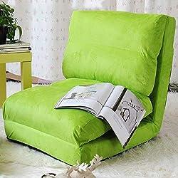 QTQZ Mezcla de Lino sofá Cama Plegable a Rayas mediterráneo con sofá Cama Plegable Perezoso (Opcional) (Color: A)