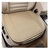 EverFabulous 2 Pièce PU Cuir Bambou Charcoal Transpirable Confortable Coussin pour...