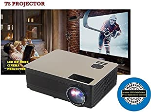 TS Projector TS-HD11 HD LED 4300Lumens Native Resolution 1280x800 Up-to 4K Video Support 10-15 Year's Long Life Projector