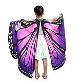Dragon868 Kind Baby Mädchen Schmetterlingsflügel Schal Schals Nymphe Pixie Poncho Kostüm Zubehör Karneval Cosplay Accessoires Umhang (Lila)