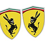 Republe 1Pair Asino Divertente Snake Dog Modello 11x13cm Riflettente Sticker Car Cover Compatibile per la Ferrari