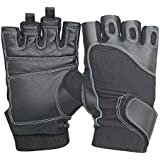 Nivia New Genuine Leather Sports Gloves, Medium (Black)