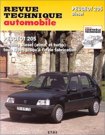 revue technique, Peugeot 205, moteurs diesel : Atmo et turbo, jusqu'à la fin de fabrication