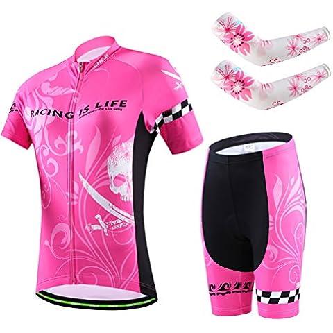 hebike a maniche corte ciclismo pantaloni Set + Braccio Maniche,
