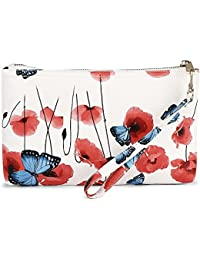 Generic Women's Casual Floweral Print Shoulder Bag Or Handbag (White)