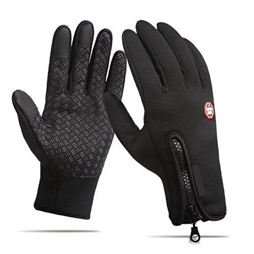 Radhandschuhe,Anqier Windproof Warm Touchscreen Handschuhe Outdoor Winter Handschuhe Runnig Kletterhandschuhe für Damen Herren (L)