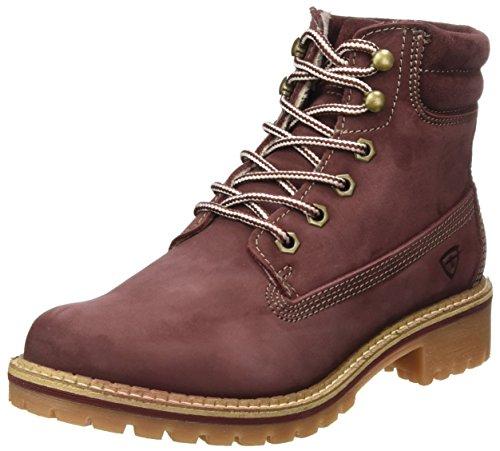 Tamaris Damen 25242 Stiefel, Rot (Bordeaux Nubuc), 38 EU (Stiefel Rote Winter)