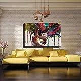 MUYIER Leinwand-Wand-Kunst, Hintergrund Malerei Bilder-Druck Auf Leinwand Abstrakt Das Bild Für Haus Zimmer Büro Wandschmuck,E