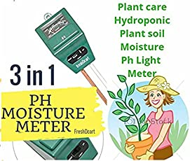 FreshDcart 3-in-1 Water Moisture Hydroponic Solar Care Plants Soil Sensor Ph Light Meter (FDC-06)