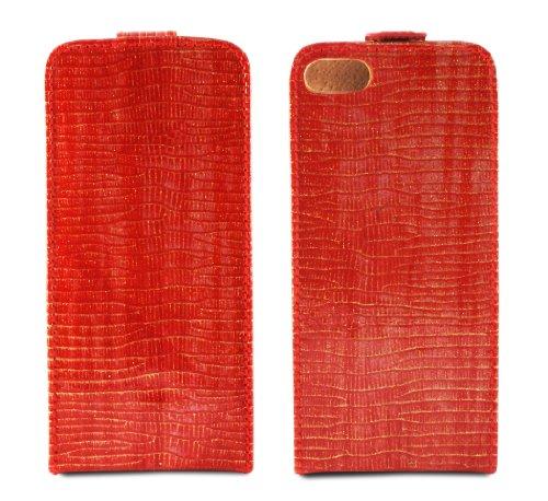 TammyB Idella Flip Case für iPhone 5, Leder rot