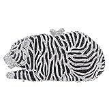 Bonjanvye Big Tiger Clutch Purse Bling Studded Glitter Clutch Evening Bag Silver