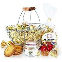 Panier Douceurs, 8 produits : Biscuits, chocolats, caramels, Fleur de sel - Idée Cadeau gourmand