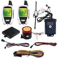 EASYGUARD EM209 sistema de alarma de 2 vías para motocicleta remoto microondas motor de arranque sensor Pantalla LCD colorida sensor de proximidad de choque DC12V versión universal
