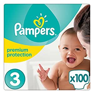Pampers - New Baby - Diapers Size 3 (5-9 KG) - Giant Pack - Set of 2 (100 layers)