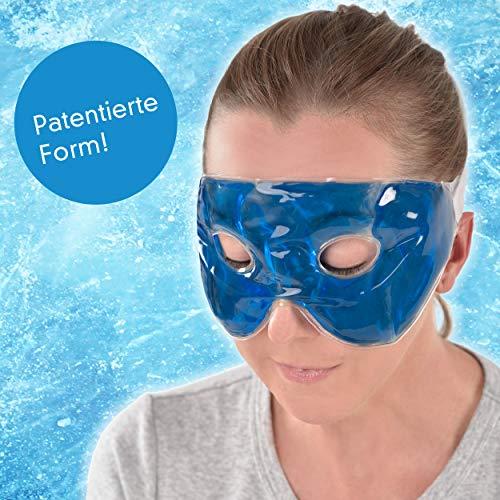 travelstar: patentierte Premium-Gel-Maske & Schlafmaske & Augenmaske   Kälte- & Wärmetherapie für geschwollene Augen + Kopfschmerzen (TS-C-1000) Kühlmaske Coolpack Cool Pack   Gelmaske   Frauen/Männer -
