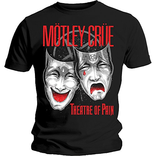 Motley Crue Theatre of Pain Rock Metal ufficiale Uomo maglietta unisex (Medium)