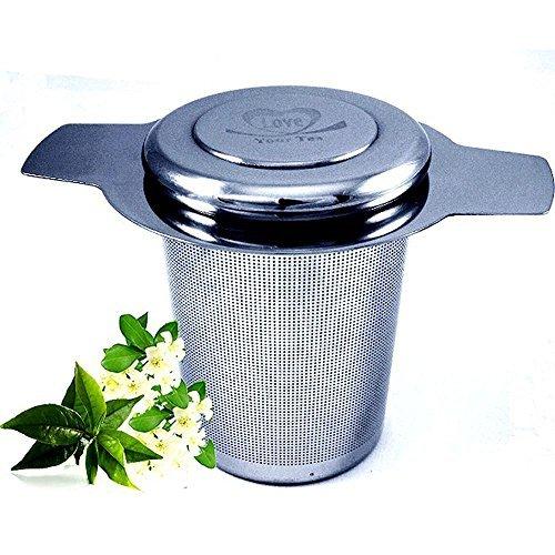 brew-in-mug Infusor de té para té Con tapa, extra fine Mesh Colador de acero inoxidable 304/cesta del filtro para taza de té, taza para té, o tetera. De Love el té. 4