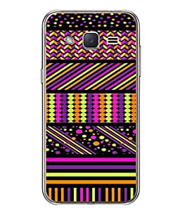 PrintVisa Designer Back Case Cover for Samsung Galaxy J1 (multi color textured designer image)