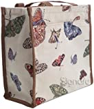 Signare Womens Fashion Tapestry Shopper Bag Shoulder Bag in Butterfly Design