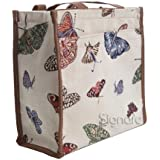 Signare Womens Fashion Tapestry Shopper Bag Shoulder Bag in Butterfly Design