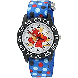 eWatchFactory Boy's 'Sesame Street' Quartz Plastic and Nylon Automatic Watch, Color:Blue (Model: W003199)