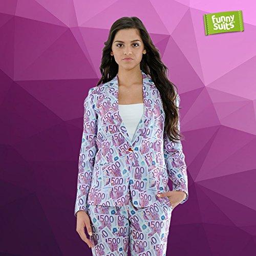 Funnysuits Geldschein 500 Euro Damen Anzug The 500er 2-teiliges Kostüm Deluxe EU Size 42