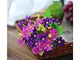 OVVO Machen Sie schöne Dekoration Simulation Daisy Jump Blue Künstliche Blume Silk Blumenstrauß