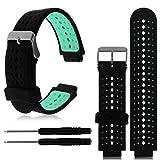 Winkey Bracelet de montre, souple en silicone de remplacement montre bracelet Band pour Garmin Forerunner 230/235/630