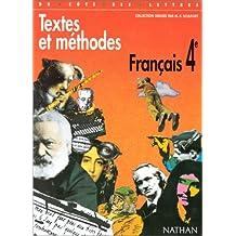 Textes et méthodes, français 4e, programme 1998