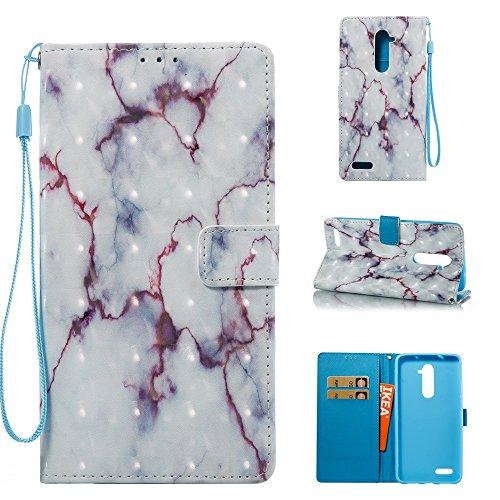 Marmor Stein Grain Texure Pattern PU Ledertasche Cover, Retro Bookstyle Flip Stand Case mit Magnetverschluss & Card Slots & Lanyard für ZTE Z MAX PRO Z981 ( Color : E ) D