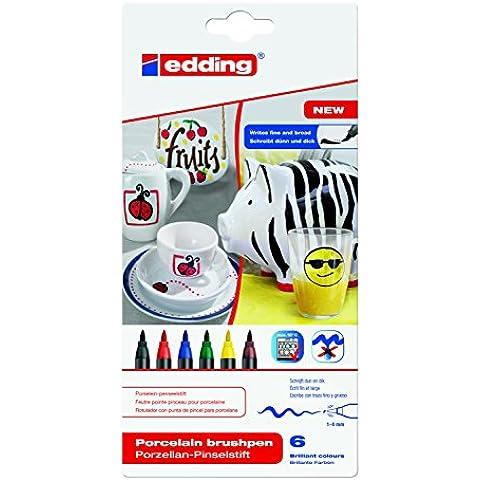 Edding 4200 - Pack de 6 rotuladores (1 - 4 mm), multicolor