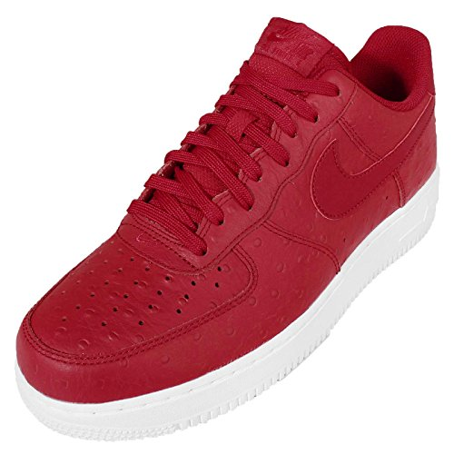 Nike Air Force 1 07 Lv8, Baskets Athlétiques Rouges / Blanches Pour Homme (gym Rouge / Gym Rouge-blanc)