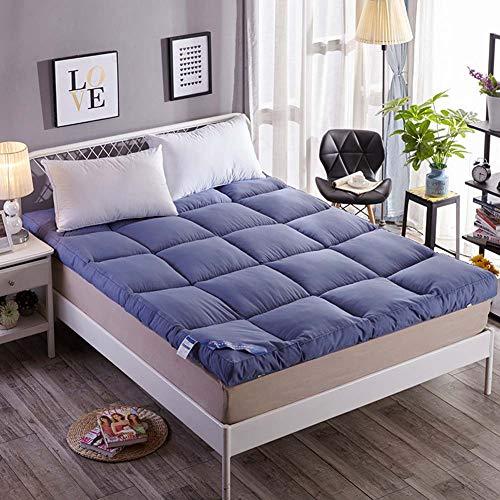 Aickert pieghevole futon materasso matrimoniale singolo da terra tatami stuoie, portatile trapuntato stile giapponese futon rilievo di materasso,blue,quee90*200cm