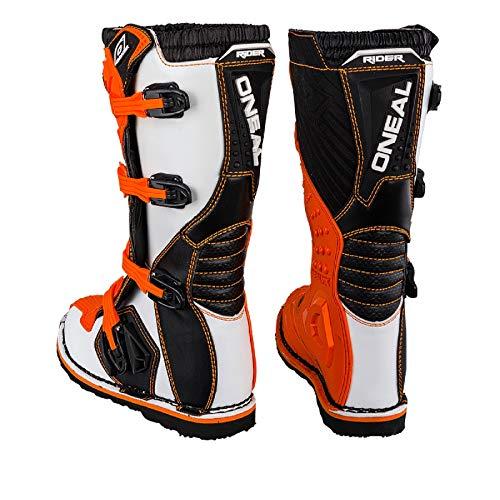 O'Neal Rider Boot MX Stiefel Orange Moto Cross Motorrad Enduro, 0329-3, Größe 45 - 5