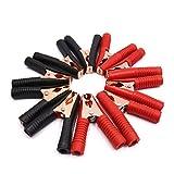 sourcingmap® 10Stk 85A Rot Schwarz Batterie Insoliert Test Klammer Alligator Klammer für Auto