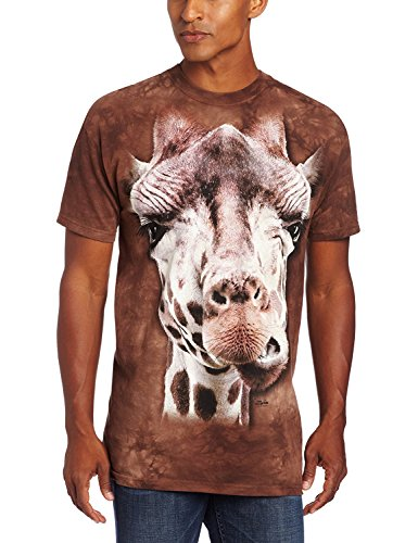 The Mountain Unisex Erwachsen Giraffe Tier T Shirt, Braun, XL -