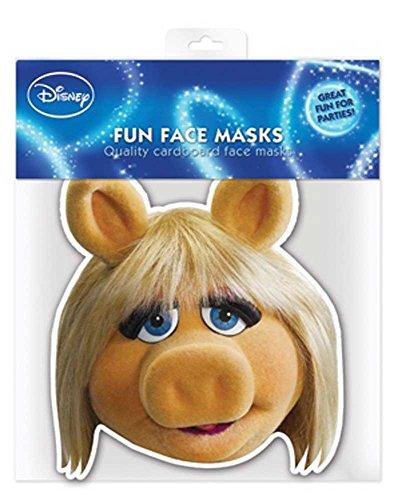 Muppets Miss Piggy - Papp Maske, aus hochwertigem Glanzkarton mit Augenlöchern, Gummiband - Grösse ca. 30x20 cm