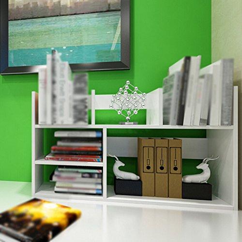 Soporte para libros Estante Escritorio 82 (L) * 20 (W) * 48 (H) Cm Soporte de almacenamiento Blanco ( Color : #1 )